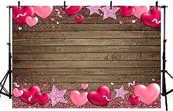 MEHOFOTO - Fondo de madera rústica para estudio de fotografía para el día de San Valentín o la ducha, diseño de corazones, color rojo y rosa