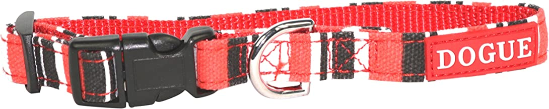 DOGUE Striped Collar RED/Black Large (DG119)