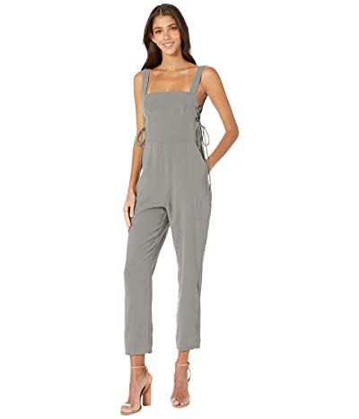 BCBGeneration Side Panel Lace-Up Jumpsuit TUB9280129 (Dark Moss) Women