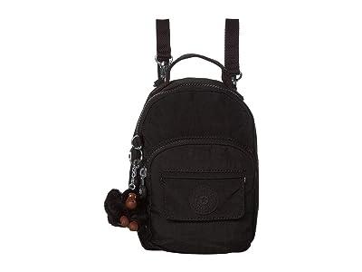 Kipling Alber 3-in-1 Convertible Mini Bag Backpack (True Black) Backpack Bags