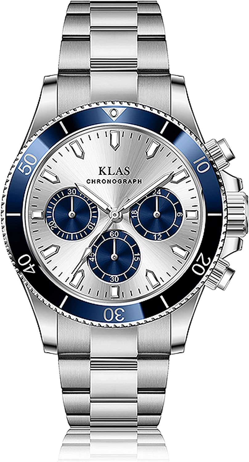Men's Fashion Stainless Soldering Steel Waterproof Low price Watches Chronograp Date