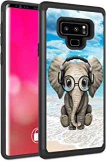 Galaxy Note 9 Case, Rossy Shockproof Heavy Duty Hybrid TPU Plastic Dual Layer Armor Defender Protection Case Cover for Samsung Galaxy Note 9 2018,Cute Baby Elephant