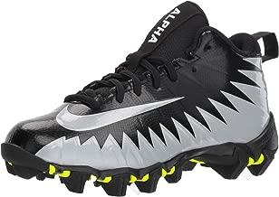 Nike Men's Alpha Menace Shark Football Cleat Black/Metallic Silver/White Size 7.5 M US