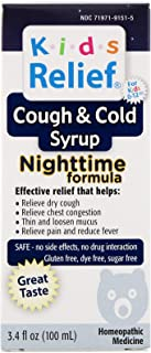 Homeolab Kids Relief Cough and Cold Nighttime Formula, 100 ml (Pack of 1)