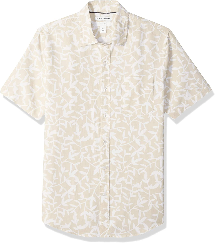 Amazon Essentials Men's Slim-fit Short-Sleeve Ranking TOP4 Today's only Linen Shirt