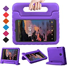 BMOUO Kids Case for T-Mobile Alcatel 3T 8 Tablet 2018/Alcatel A30 Tablet 8 2017, Lightweight Kid-Proof Handle Stand Case for Alcatel 3T 8 Tablet 2018 / Alcatel A30 8 inch 2017 - Purple