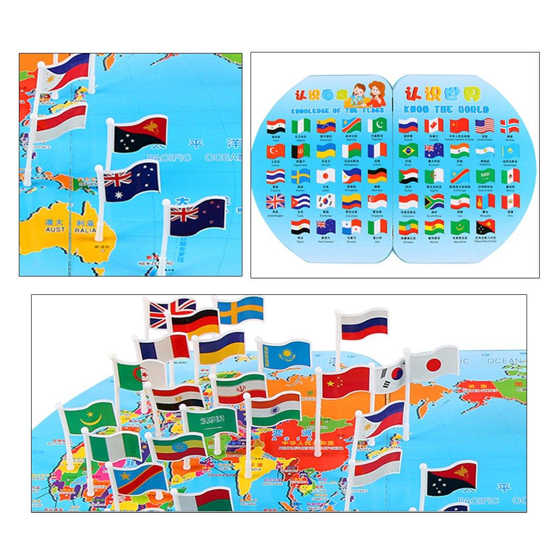 La Haute - Juego de Conoce tus Banderas y los Países del Mundo para niños, juego educativo para jugar en familia: Amazon.es: Deportes y aire libre