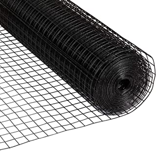 Amagabeli 36inch x 50ft Hardware Cloth 1.5 inch Square 16 Gauge Black Vinyl Coated Welded Fence Mesh Roll for Home and Gar...