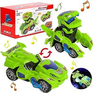 Dinosaurus Transformers auto, dinosaurusauto, speelgoed, transforming licht en muziek, cadeaus jongen dinosaurusspeelgoed ...