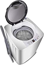 SUPER DEAL Upgraded Portable Full-Automatic Washing Machine Spacious Load Compact Washer - Built-in Drain Pump and Long Hose (Pro)