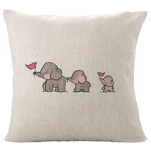 Weksi Animal Style Retro Cotton Linen Square Fabric Throw Pillow Covers 18x18 Decorative Pillows Inserts Covers Pillow Covers