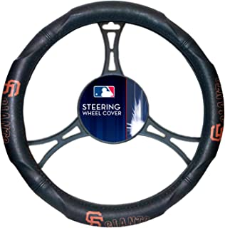 SF Giants OFFICIAL Major League Baseball, Steering Wheel Cover (Made to fit 14.5-15.5 steering wheels)