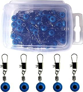 Quicknap 100Pcs 滑块 鱼钩 钓鱼钓钩 浮动连接器 焊接 香槟夹 3种尺寸