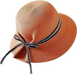 WN - Sombrero - Visera de Verano para Mujer Visera al Aire Libre Protección UV Sombrero para el Sol Sombrero de Paja Plegable Fácil de Llevar (5 Colores) Sombrero para Mujer (Color : D)