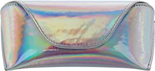 CTM Women's Iridescent Glasses Case with Magnetic Closure