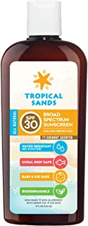 All Natural SPF 30 Sunscreen, Coconut Scent, Biodegradable, Reef Safe by Tropical Sands, Water Resistant Great for Snorkel...