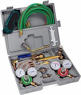 XtremepowerUS Premium Oxy Acetylene Welding Cutting Torch Kit Oxygen Brazing Professional..
