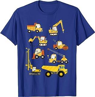 Des pelles de construction mignonnes pour les garçons et les T-Shirt