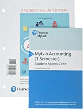 Financial Accounting, Student Value Edition Plus MyLab Accounting with Pearson eText -- Access Card Package (12th Edition)