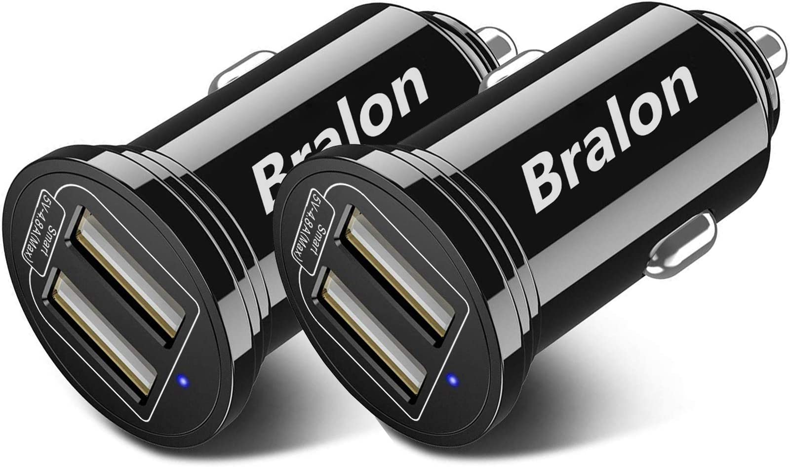 USB Car Charger[2-Pack],Bralon Fast Car Charger with 24W/4.8A Output Flush Compatible with iPhone 12/12 Pro/11 Pro(Max)/Xs(Max)/Xr/X/8/7,Galaxy Note S10 S9 S8 S7 and More