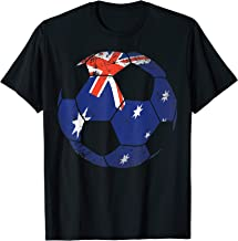 Australia Soccer Ball Flag Jersey Shirt Australian Football