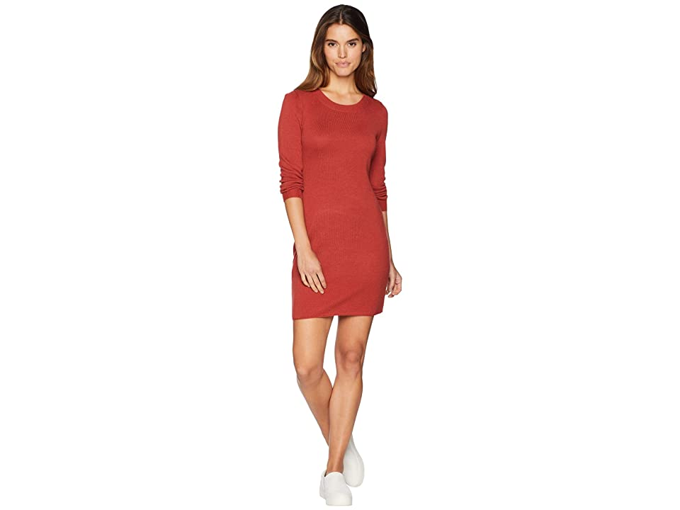 Jack by BB Dakota After Midnight Novelty Stitch Sweater Dress (Burnt Orange) Women