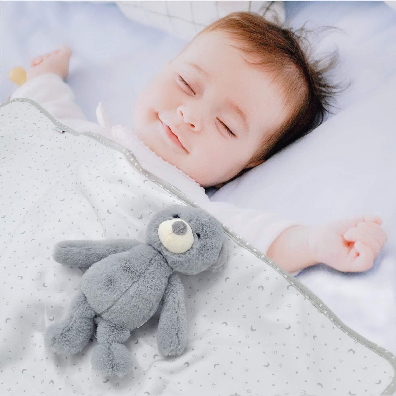 dark red AKK BABY Balanket f/ür Babys Kuscheldecke mit Spielzeuggeschenk f/ür Babys Weiche Kuscheldecke f/ür Babys und Kaninchen ab 0 Monaten Ma/ße: 100 x 75 cm Kaninchenpl/üschtier