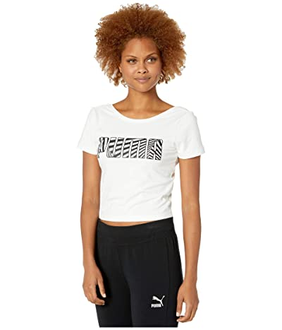 PUMA Claw Short Sleeve Top (PUMA White) Women