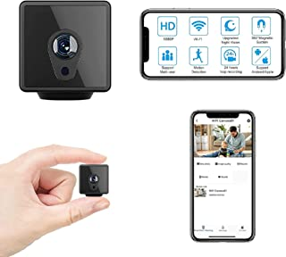 MiniDeer WiFi Hidden Camera, Full HD 1080P Mini Camera WiFi, Upgraded Night Vision Motion Activated Spy Cam Nanny Cam, Sec...