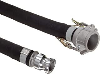 Unisource 2612 Black Rubber Suction/Discharge Hose Assembly, 4