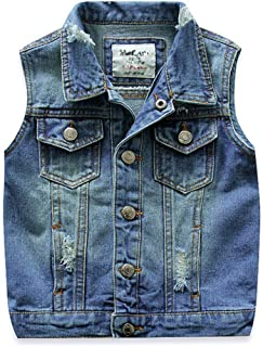Little Boys Spring Autumn Denim Vest Jacket Waistcoat Top