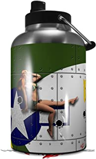 Skin Decal Wrap for 2017 RTIC One Gallon Jug WWII Bomber War Plane Pin Up Girl (Jug NOT INCLUDED) by WraptorSkinz