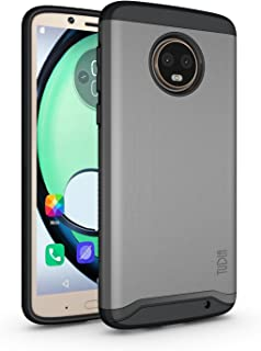 TUDIA Motorola Moto G6 Plus Funda, Caja Protectora Merge Tarea Pesada Protección Extreme de Doble Capa para Motorola Moto G6 Plus (Grafito)