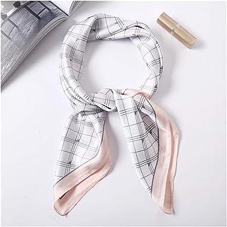 JINSUO Luxury Brand 2020 New Fashion Summer Silk Square Scarf Women Cat P Satin Neck Hair Tie Band Beach Hijab Head Female...