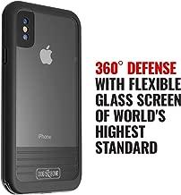 Waterproof Case for iPhone X - Dog & Bone Wetsuit Impact Rugged iPhone X Case (Black/Black)