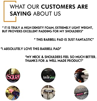 """NewAge Fitness Barbell Pad Squat Pad - Supports Squat Bar Weight Lifting for Neck & Shoulder - Protective Pad 16"""" Lon..."""