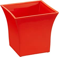 Klassic Plastic Sharp Edges Planter Set (Orange, Pack of 6)