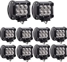 Led Pods,Lumitek 10PCS 4inch 18W Led Light Bar Led Flood Work Light IP 67 Waterproof Led Fog Lights Driving Off-road Lights for Trucks Pickup Jeep SUV UTV Tanks Van Camper ATV 4WD……