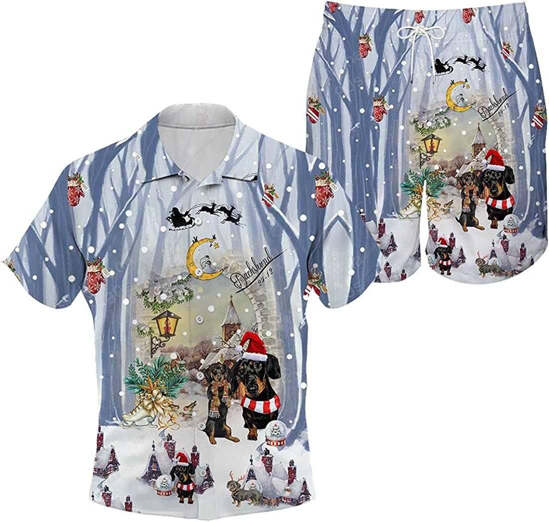 Dachshund Max 53% OFF 2021 autumn and winter new Hawaiian Shirt and Christmas Mysterious