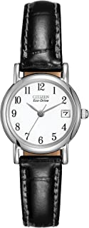 Citizen Women's Eco-Drive Stainless Steel Black Strap Watch