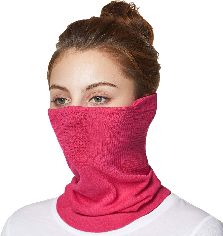 TSLA 1 or 2 Pack Winter Neck Warmer Gaiter, Lightweight Half Balaclava, Windproof Face Mask for Ski Snowboard Outdoor Sports