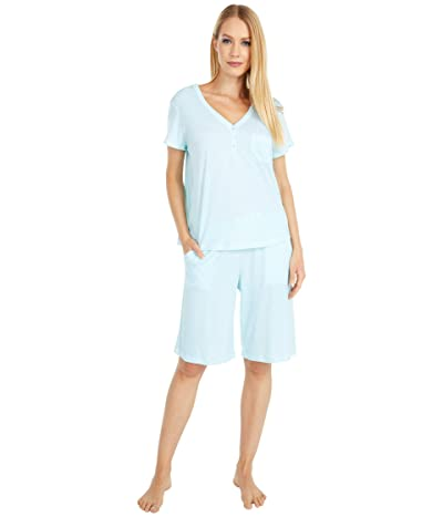 Karen Neuburger Sky and Forest Short Sleeve Bermuda Pajama (Sage Geo) Women