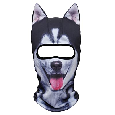 WTACTFUL 3D Stand Ears Animal Balaclava Face Mask