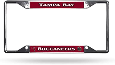 Rico Industries NFL unisex-adult Easy View Chrome License Plate Frame