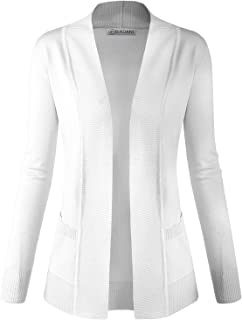 ca1e2a6602a BIADANI Women Classic Soft Long Sleeve Open Front Cardigan Sweater