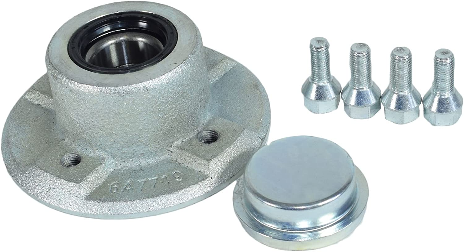 AB Tools 100mm PCD Trailer Cast Wheel f Bearings Max 74% OFF ! Super beauty product restock quality top! with Hub Sealed