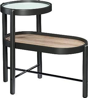 Sauder 423218 Anda Norr Side Table, Slate Gray Finish