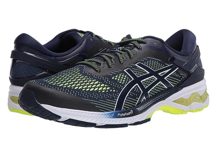 ASICS  GEL-Kayano 26 (Peacoat/Safety Yellow) Mens Running Shoes