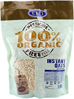 CED 100% Organic Instant Oats 500g (628MART) (12 Pack)