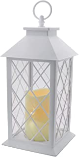 YAKii Decorative Candle Lantern with LED Flameless Candle and Timer, Plastic LED Candle & Holder, Indoor & Outdoor Hanging...